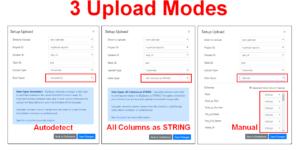 Upload Modes